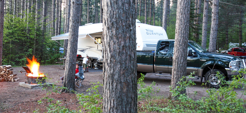 Camping at Solberg Lake County Park & Campground p.c. Tom Bender